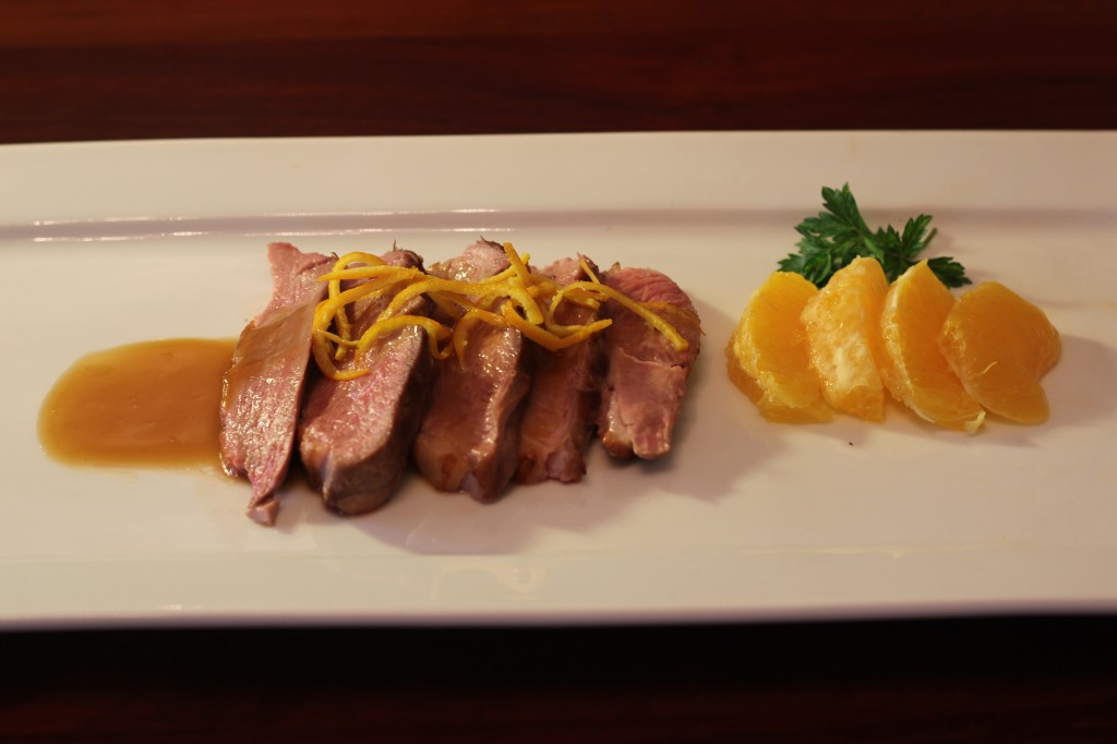 Orange Duck- rectangular plate 2