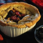 Rustic Deep Dish Peach and Berry Pie