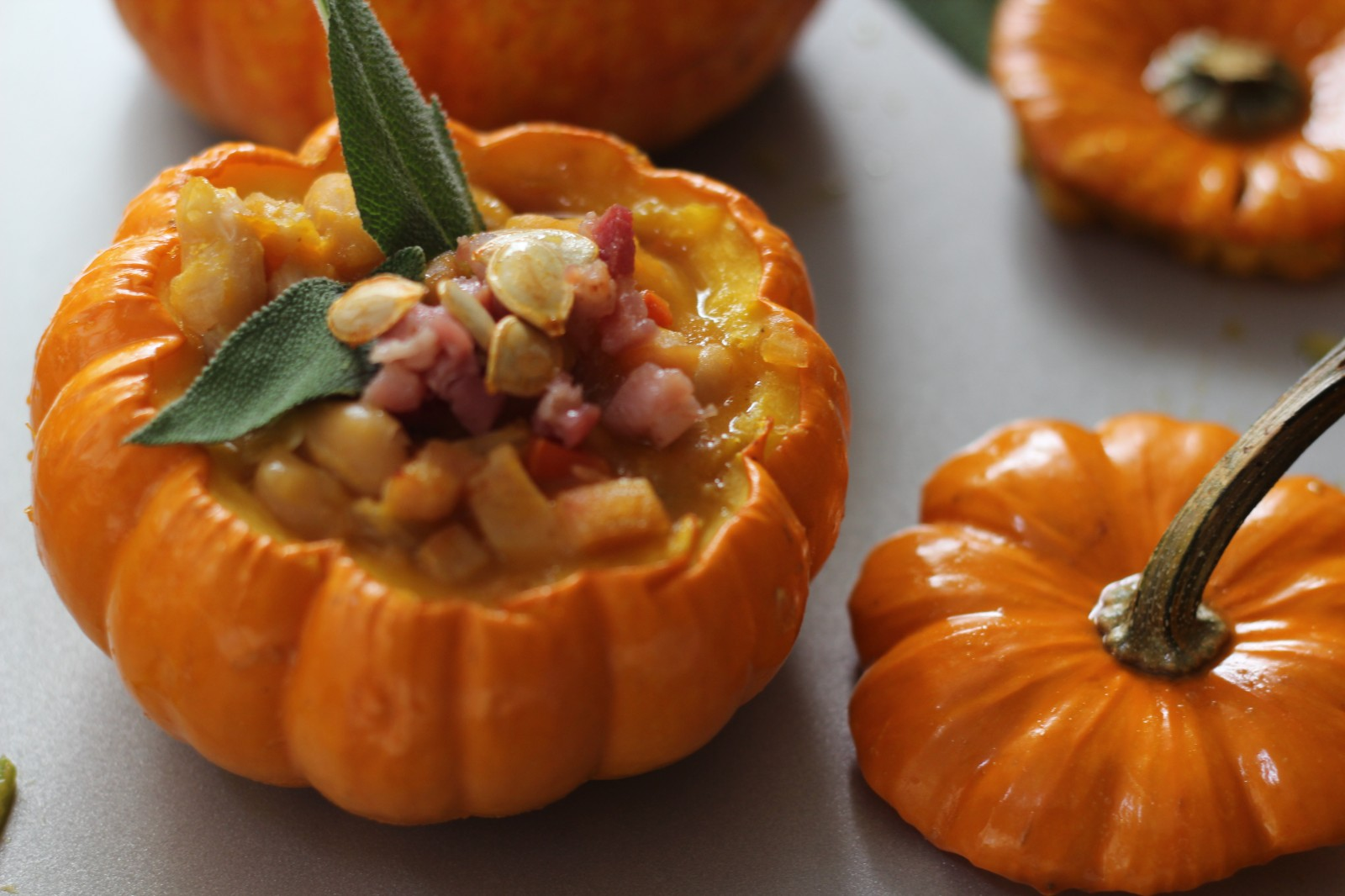 Pumpkin, Pancetta and Sage Soup Cooked in a Pumpkin Shell | G'day ...