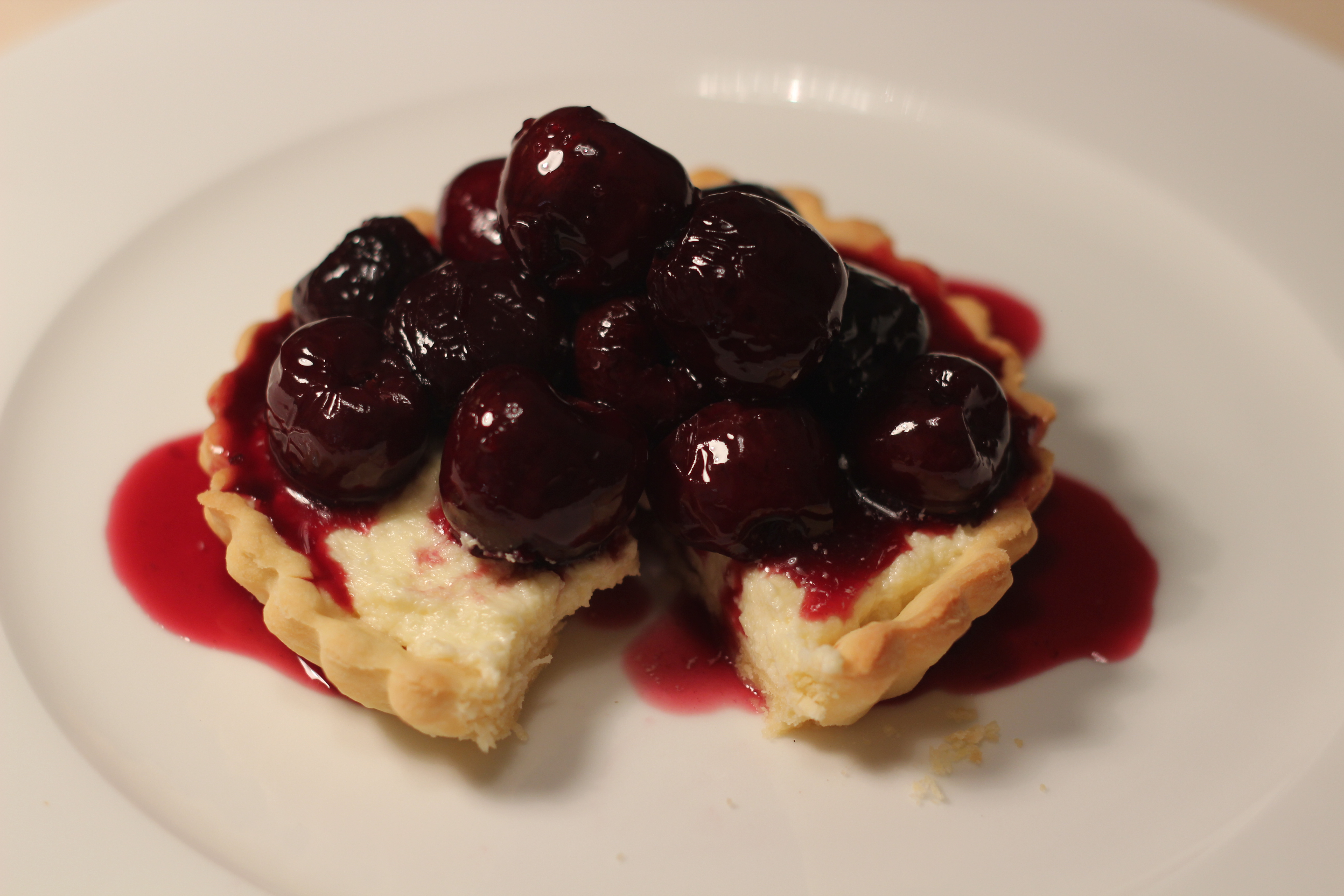 ... 5184 × 3456 in White Chocolate Tart with Cherries in Red Wine Sauce