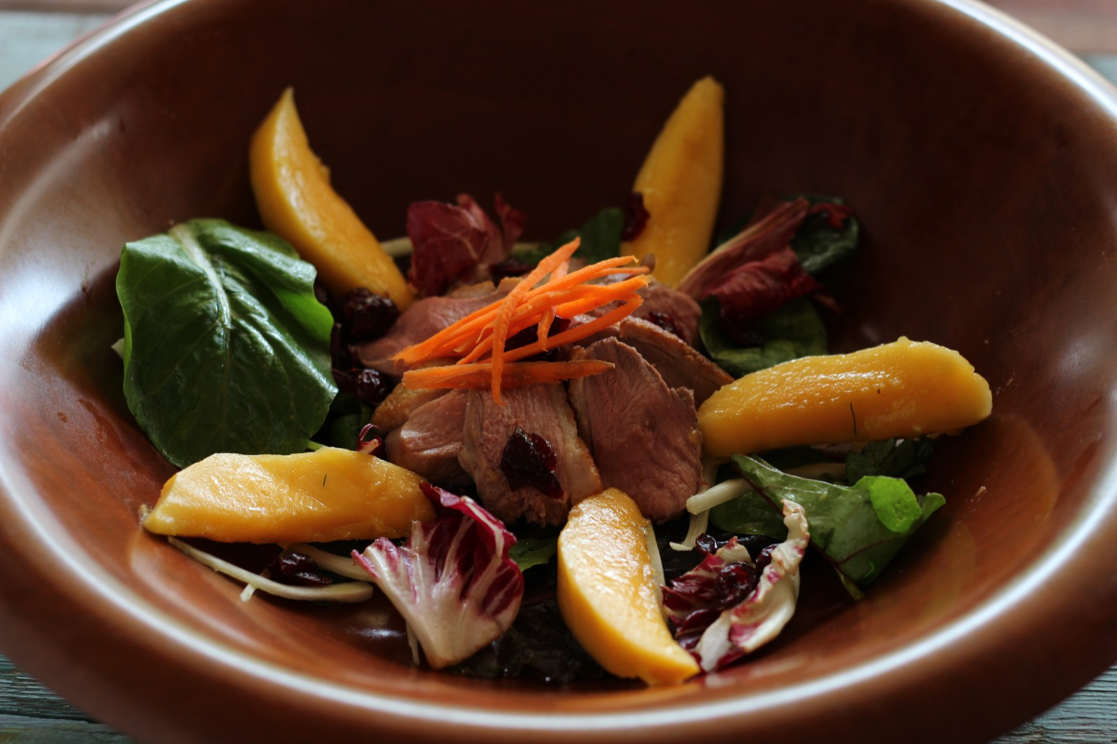 Tea-Smoked Duck Breast Salad with Mango | G'day Soufflé