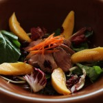 Tea-Smoked Duck Breast Salad with Mango