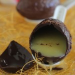 Chocolate Easter Eggs with Caramel Filling