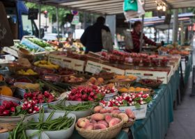 Fresh fruits and veggies at Blvd Raspail Market