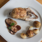 My Paris- Quail stuffed with shitake mushrooms with sweetbreads and glazed onions