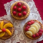Fruit Tarts with almond cream filling