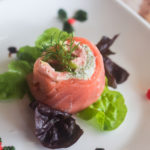 Smoked and Fresh Salmon Roulade with Leeks