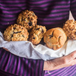 Mile-High Blueberry Muffins with Streusel Topping