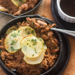Pulled Pork Casserole with Barbeque Whiskey Sauce